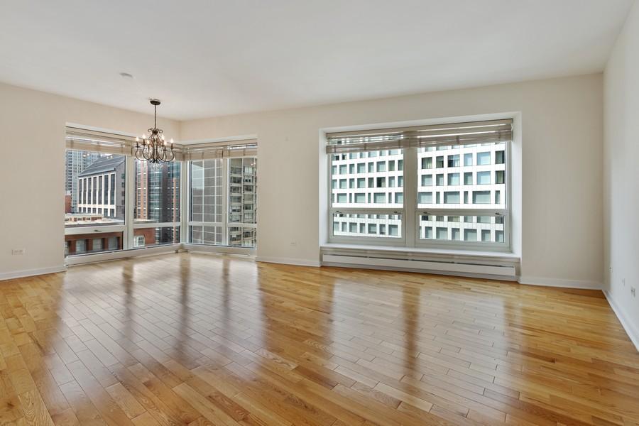 Real Estate Photography - 57 E Delaware, 1606, Chicago, IL, 60611 - Living Room
