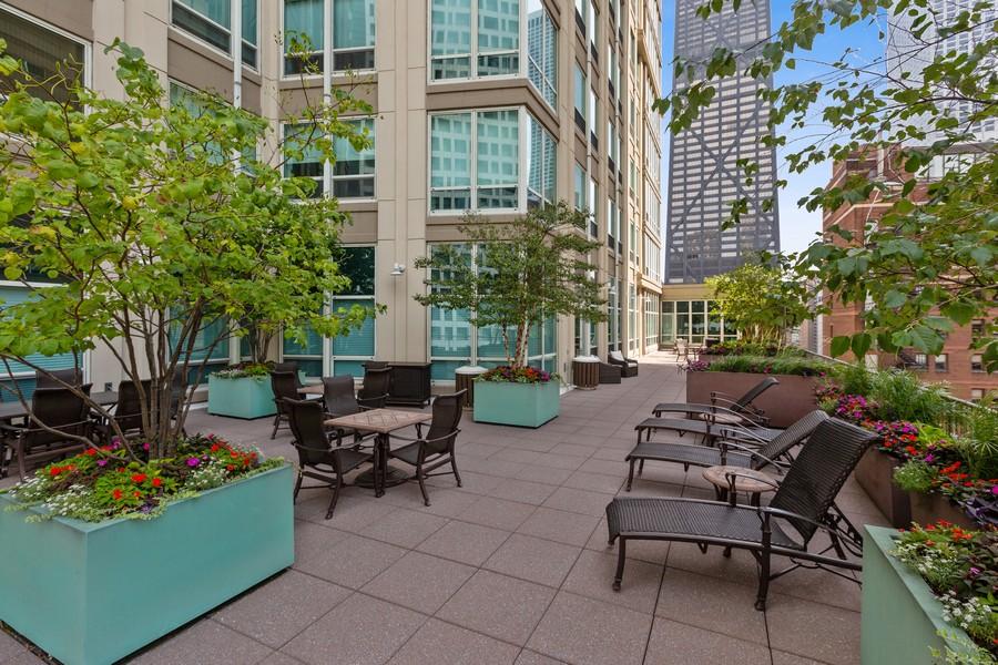 Real Estate Photography - 57 E Delaware, 1606, Chicago, IL, 60611 - Terrace