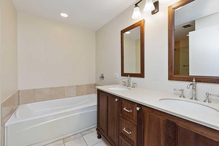 Real Estate Photography - 57 E Delaware, 1606, Chicago, IL, 60611 - Master Bathroom