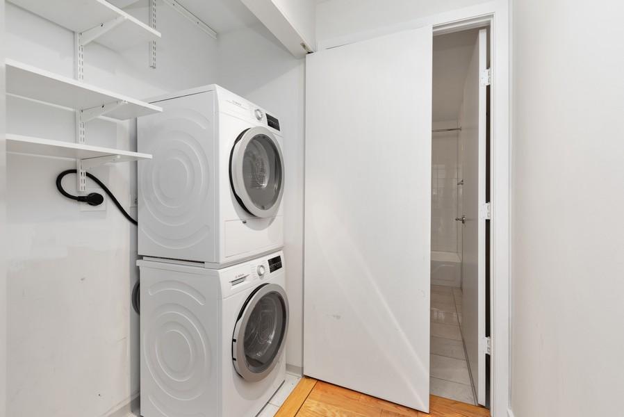Real Estate Photography - 57 E Delaware, 1606, Chicago, IL, 60611 - Laundry Room