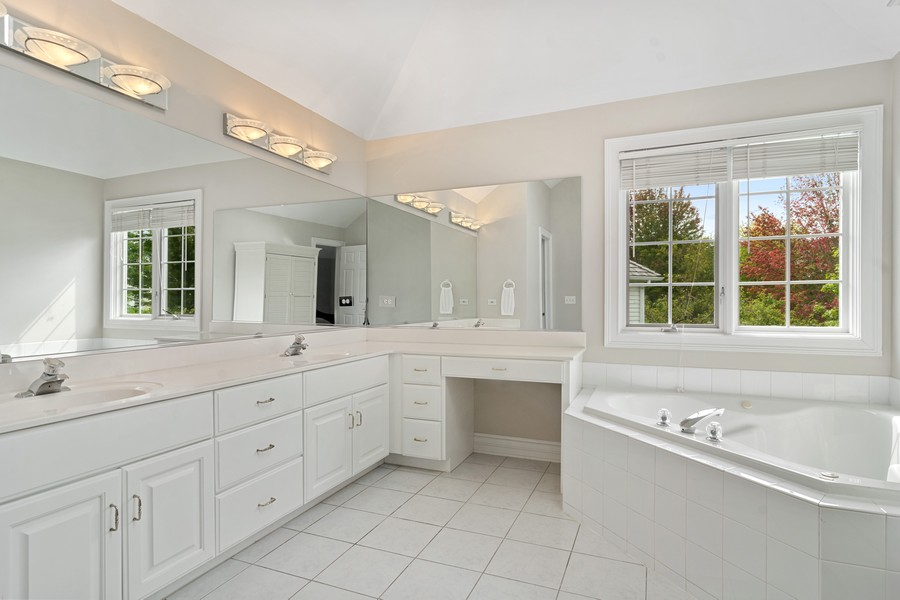 Real Estate Photography - 22820 S Woodcrest Ln, Kildeer, IL, 60047 - Master Bathroom