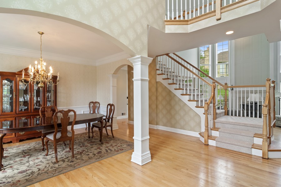 Real Estate Photography - 22820 S Woodcrest Ln, Kildeer, IL, 60047 - Foyer/Living Room
