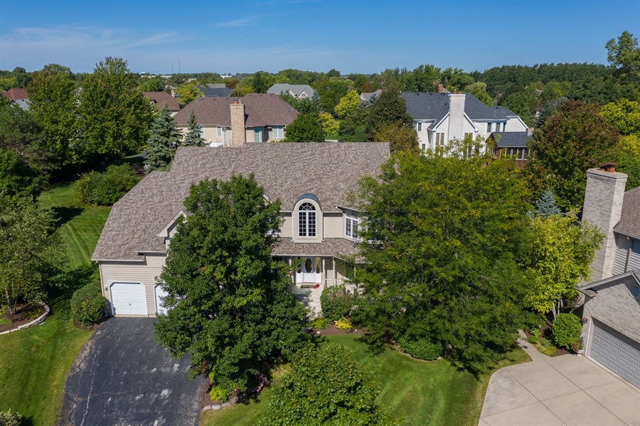 Real Estate Photography - 22820 S Woodcrest Ln, Kildeer, IL, 60047 - Aerial View