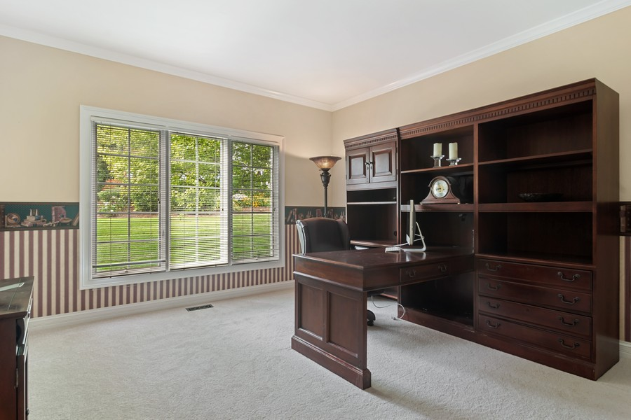 Real Estate Photography - 22820 S Woodcrest Ln, Kildeer, IL, 60047 - Office