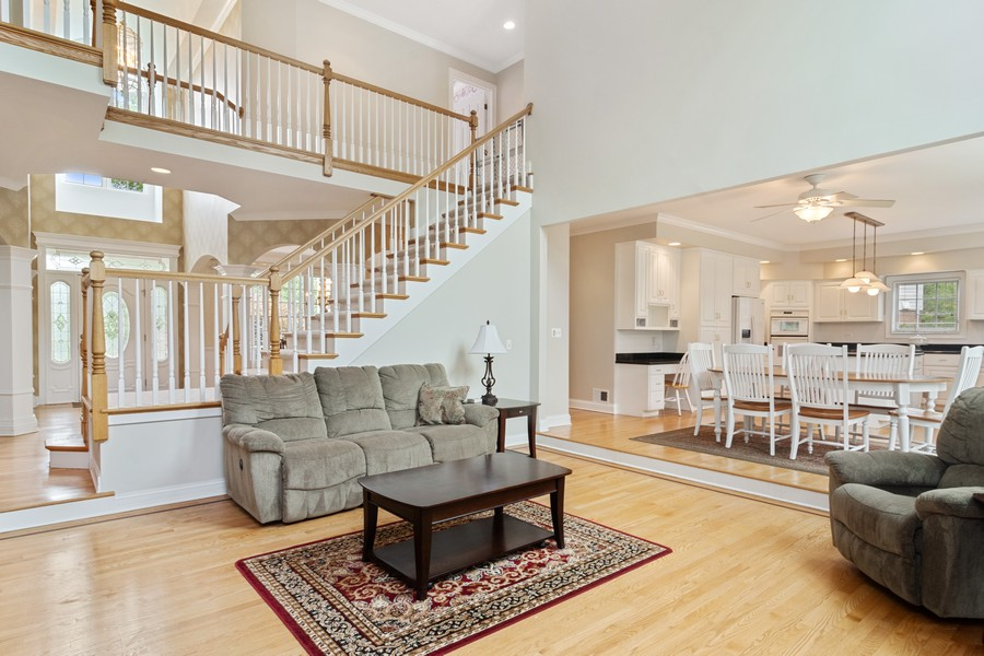 Real Estate Photography - 22820 S Woodcrest Ln, Kildeer, IL, 60047 - Family Room / Kitchen