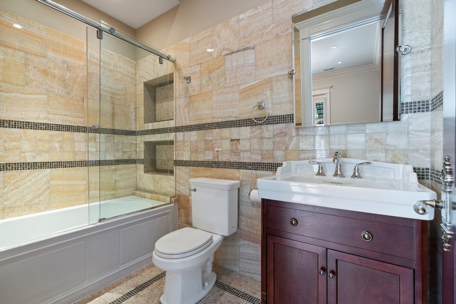 Real Estate Photography - 817 West Wrightwood, Chicago, IL, 60614 - 2nd Bathroom