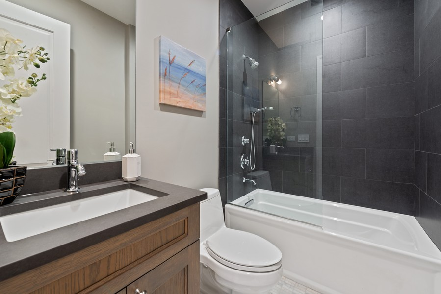 Real Estate Photography - 1306 W Byron St, Chicago, IL, 60613 - 3rd Bathroom