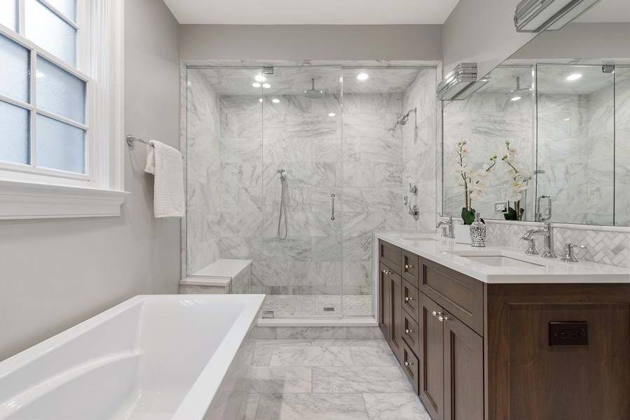 Real Estate Photography - 1306 W Byron St, Chicago, IL, 60613 - Master Bathroom