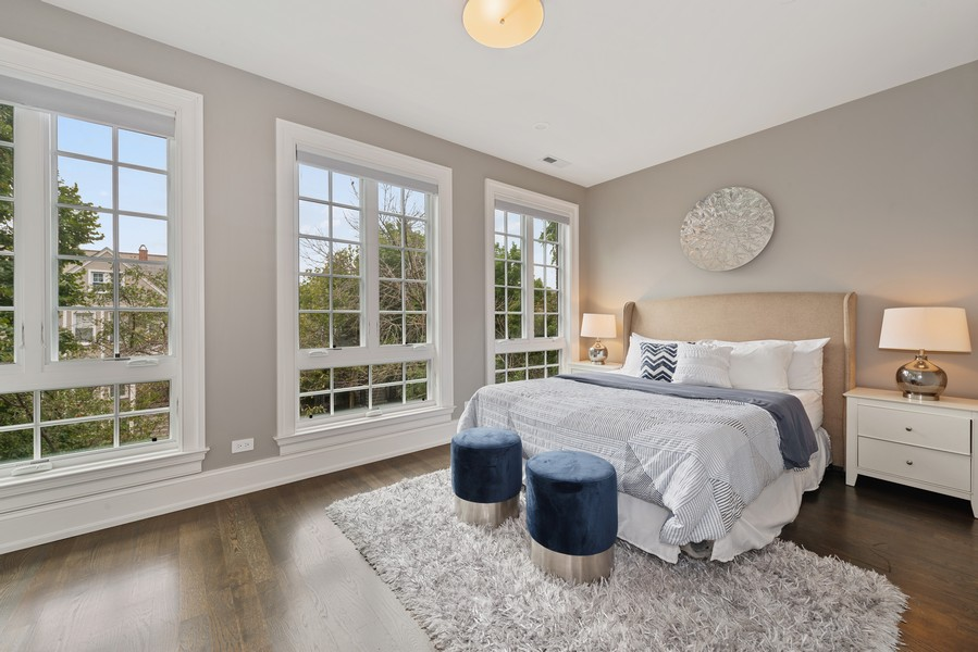 Real Estate Photography - 1306 W Byron St, Chicago, IL, 60613 - 2nd Bedroom
