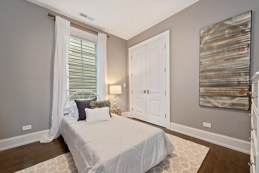 Real Estate Photography - 1306 W Byron St, Chicago, IL, 60613 - 3rd Bedroom