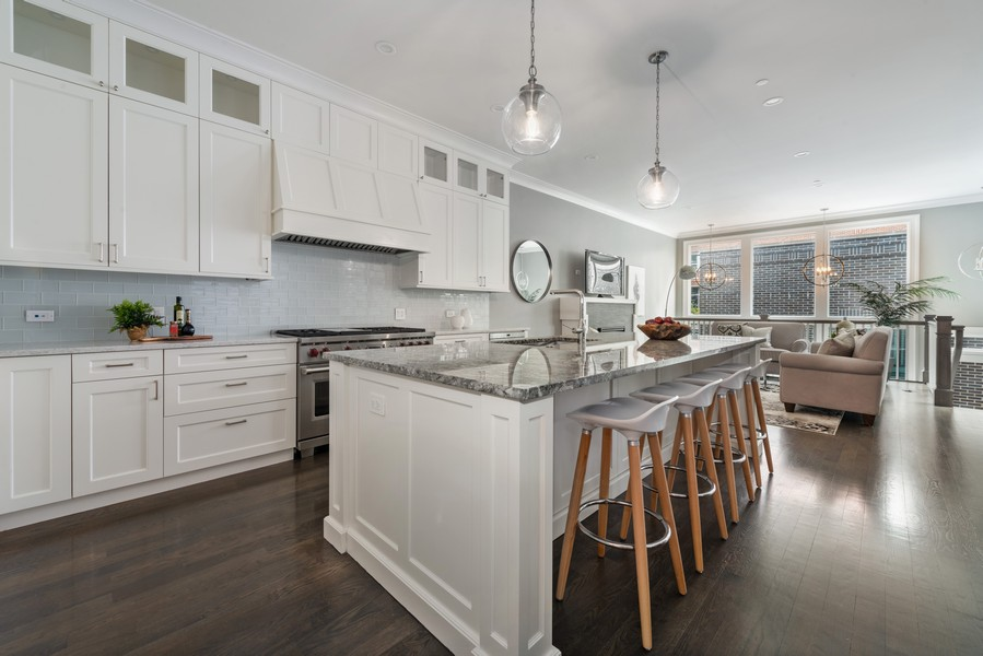 Real Estate Photography - 1306 W Byron St, Chicago, IL, 60613 - Kitchen