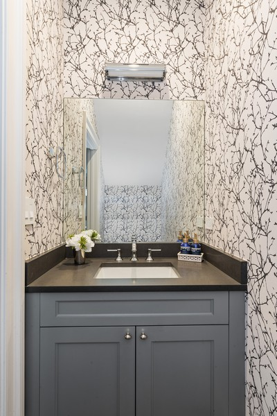 Real Estate Photography - 1306 W Byron St, Chicago, IL, 60613 - Powder Room