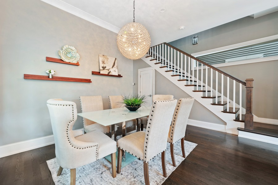 Real Estate Photography - 1306 W Byron St, Chicago, IL, 60613 - Dining Room