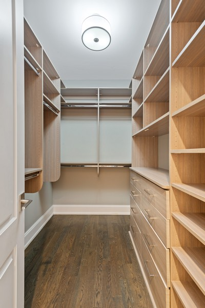 Real Estate Photography - 1306 W Byron St, Chicago, IL, 60613 - Master Bedroom Closet
