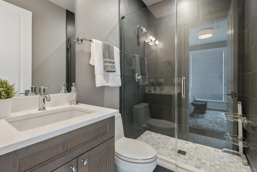 Real Estate Photography - 1306 W Byron St, Chicago, IL, 60613 - 2nd Bathroom