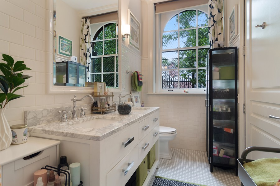 Real Estate Photography - 1855 N Sheffield Ave, Unit 105, Chicago, IL, 60614 - Master Bathroom