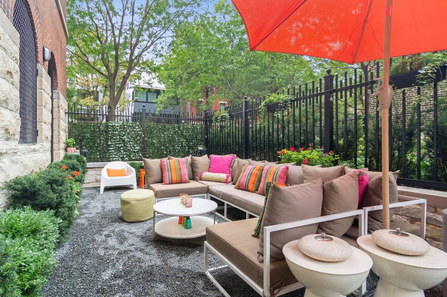 Real Estate Photography - 1855 N Sheffield Ave, Unit 105, Chicago, IL, 60614 - Patio