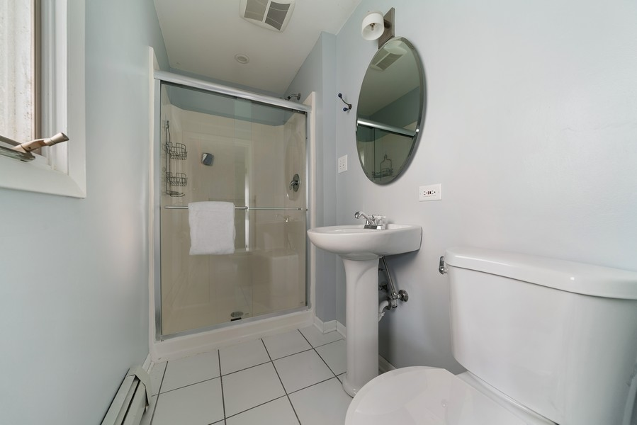 Real Estate Photography - 32 Arthur Ave., Clarendon Hills, IL, 60514 - Master Bathroom (alternate view)