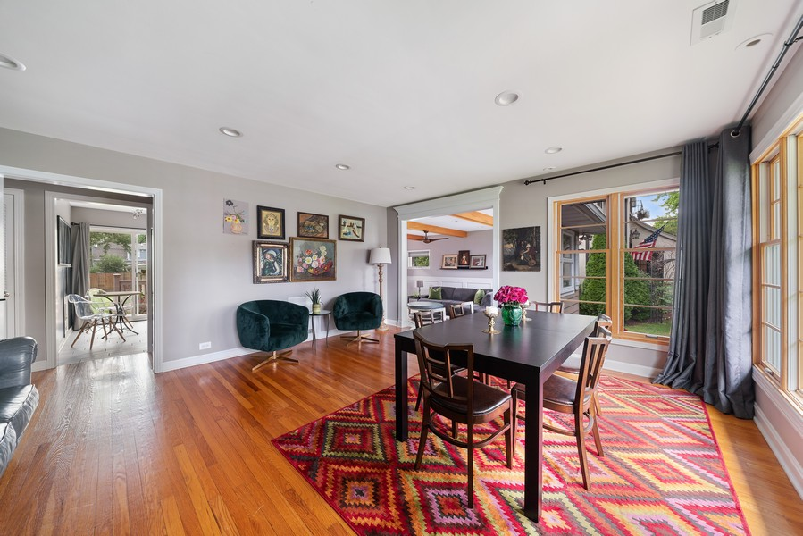 Real Estate Photography - 32 Arthur Ave., Clarendon Hills, IL, 60514 - Living Room / Dining Room