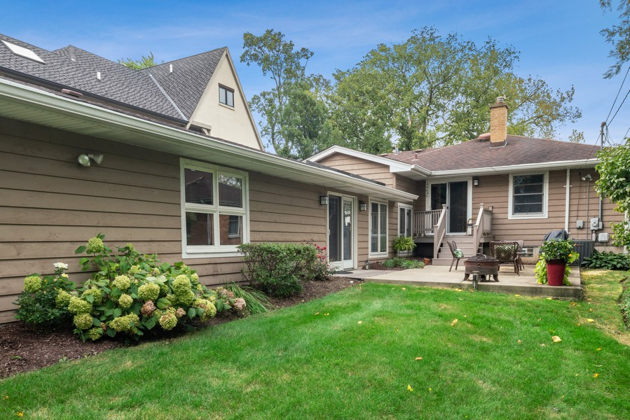 Real Estate Photography - 32 Arthur Ave., Clarendon Hills, IL, 60514 - Back of Home and Patio