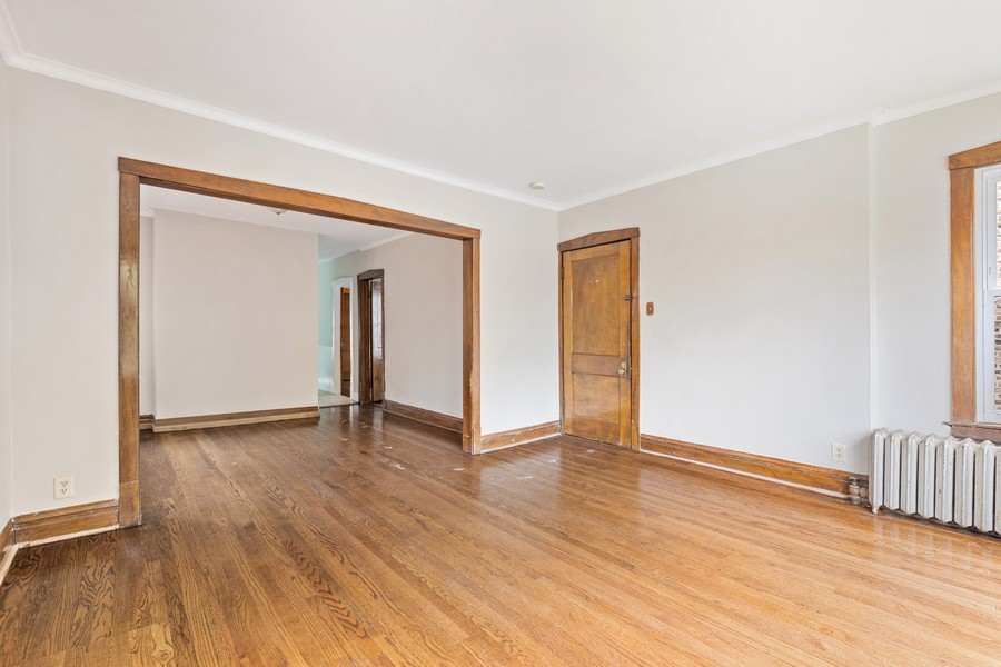 Real Estate Photography - 3804 N Sawyer Ave, Chicago, IL, 60618 - Living Room