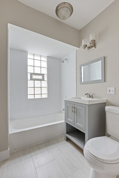 Real Estate Photography - 3804 N Sawyer Ave, Chicago, IL, 60618 - Bathroom