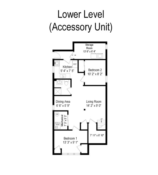 Real Estate Photography - 3804 N Sawyer Ave, Chicago, IL, 60618 - Floor Plan
