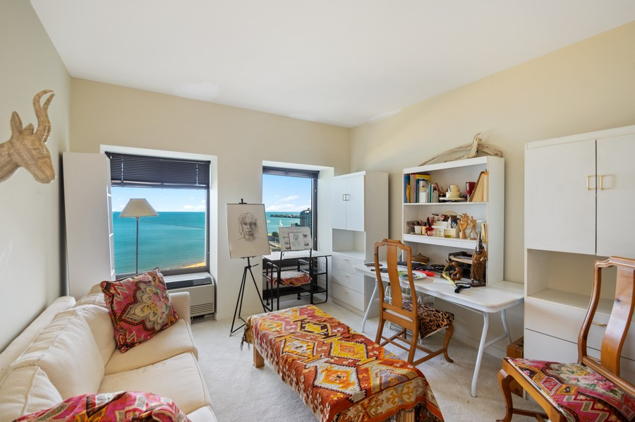 Real Estate Photography - 1100 N Lake Shore Dr, 13A, Chicago, IL, 60611 - 2nd Bedroom