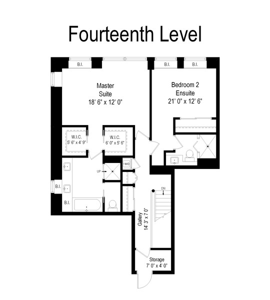 Real Estate Photography - 1100 N Lake Shore Dr, 13A, Chicago, IL, 60611 - Floor Plan