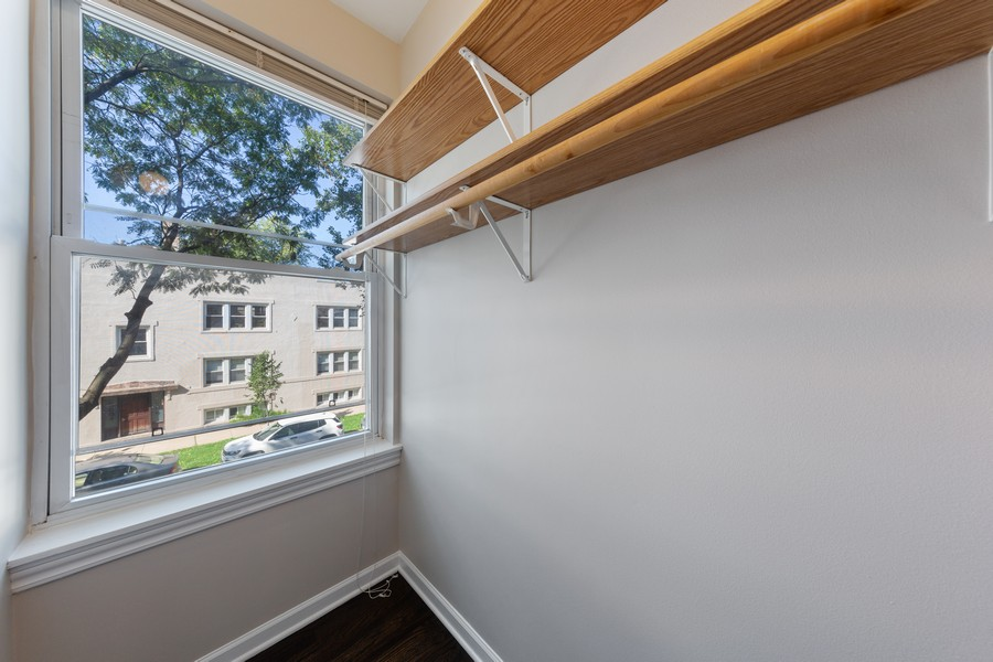 Real Estate Photography - 2605 N Hamlin #2, Chicago, IL, 60647 - Master Bedroom Closet