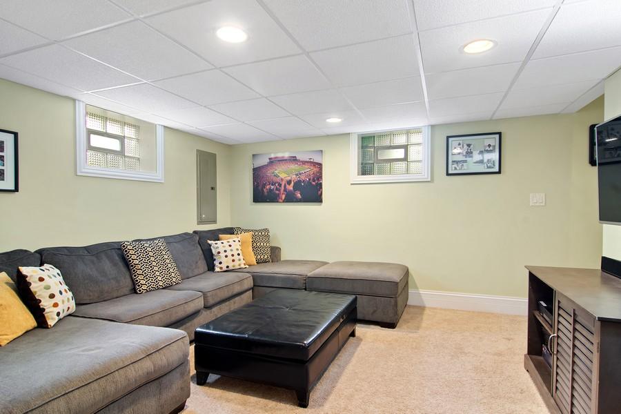 Real Estate Photography - 336 W Lake Street, Barrington, IL, 60010 - Lower Level Media Room