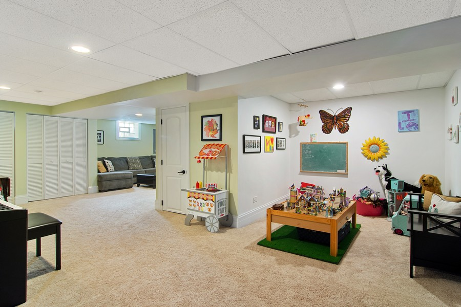 Real Estate Photography - 336 W Lake Street, Barrington, IL, 60010 - Lower Level Play Room