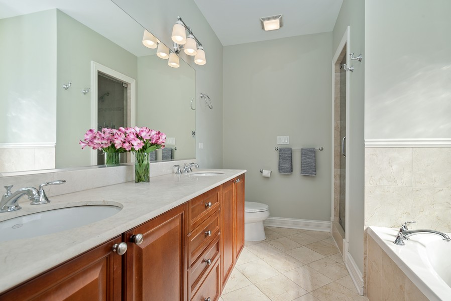 Real Estate Photography - 3555 N. Marshfield, #2, Chicago, IL, 60613 - Master Bathroom