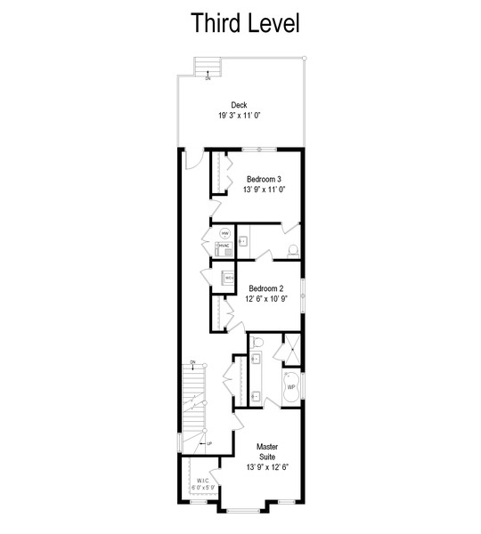 Real Estate Photography - 3555 N. Marshfield, #2, Chicago, IL, 60613 - Floor Plan