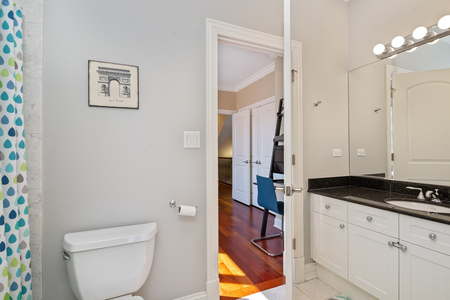 Real Estate Photography - 3555 N. Marshfield, #2, Chicago, IL, 60613 - 2nd Bathroom