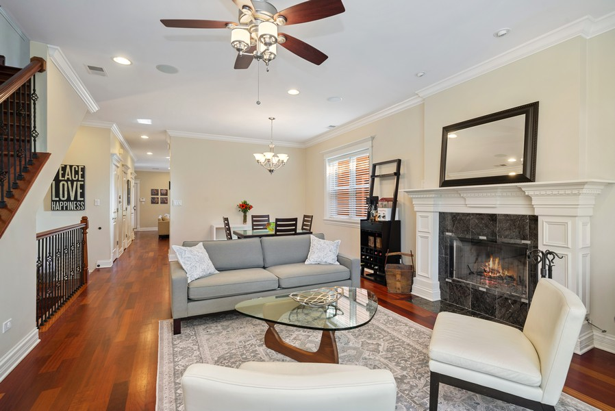 Real Estate Photography - 3555 N. Marshfield, #2, Chicago, IL, 60613 - Living Room/Dining Room