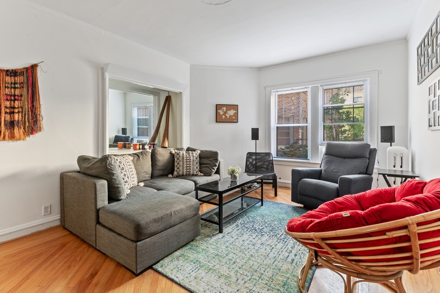 Real Estate Photography - 545 W. Addison St., Unit 1, Chicago, IL, 60613 - Living Room