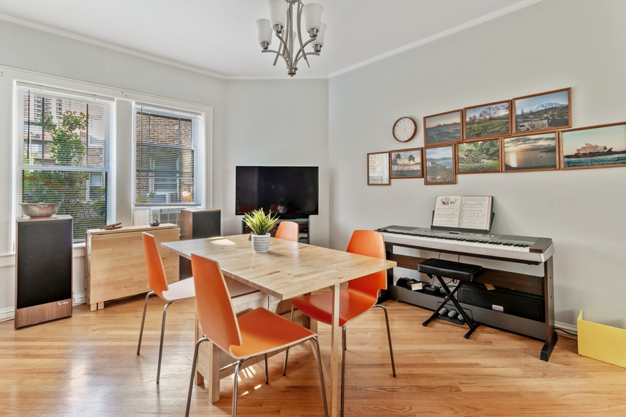 Real Estate Photography - 545 W. Addison St., Unit 1, Chicago, IL, 60613 - Dining Room