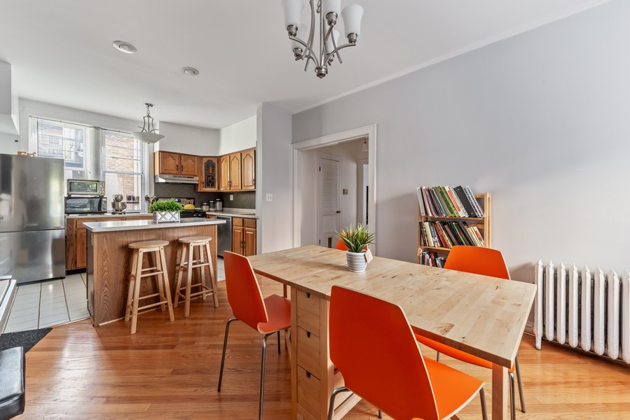 Real Estate Photography - 545 W. Addison St., Unit 1, Chicago, IL, 60613 - Kitchen / Dining Room