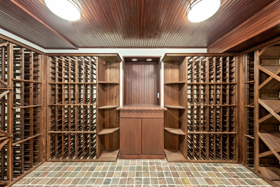 Real Estate Photography - 527 Princeton Rd, Hinsdale, IL, 60521 - Wine Cellar