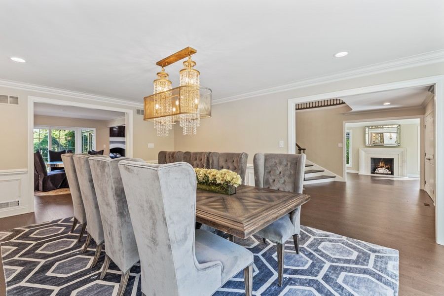 Real Estate Photography - 527 Princeton Rd, Hinsdale, IL, 60521 - Dining Room