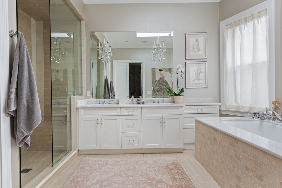 Real Estate Photography - 456 W Deming, Unit 4W, Chicago, IL, 60614 - Master Bathroom