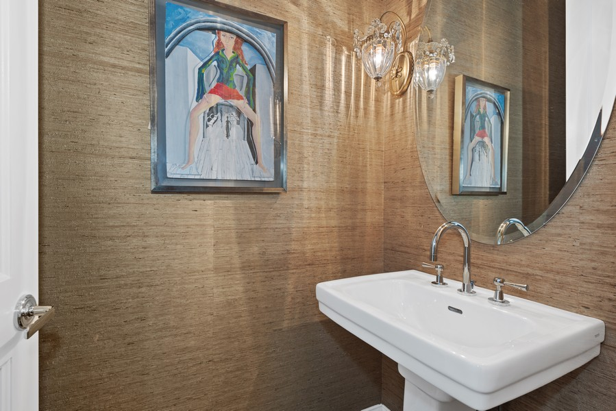 Real Estate Photography - 456 W Deming, Unit 4W, Chicago, IL, 60614 - Powder Room