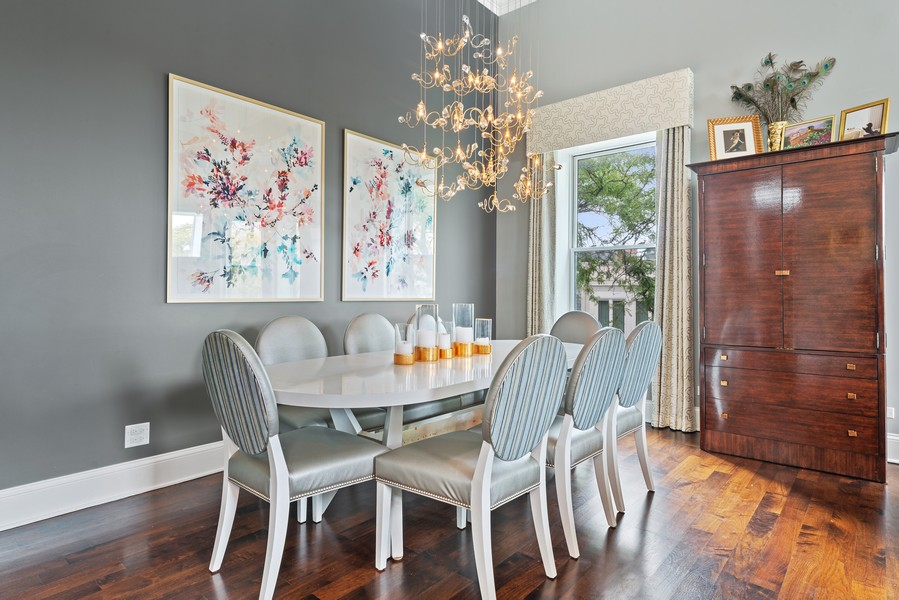 Real Estate Photography - 456 W Deming, Unit 4W, Chicago, IL, 60614 - Dining Room