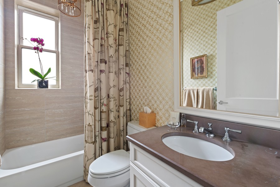 Real Estate Photography - 456 W Deming, Unit 4W, Chicago, IL, 60614 - 2nd Bathroom