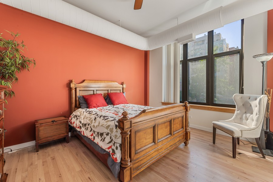 Real Estate Photography - 333 W Hubbard, 2A, Chicago, IL, 60654 - Master Bedroom