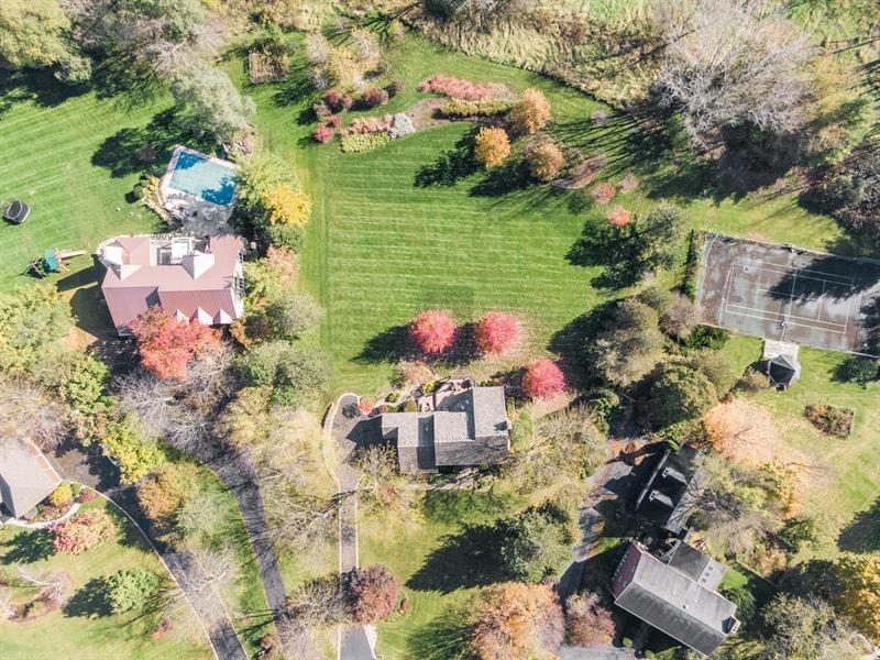 Real Estate Photography - 6534 Saddle Ridge Lane, Long Grove, IL, 60047 - Aerial View