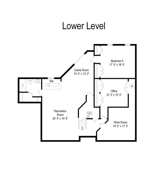 Real Estate Photography - 6534 Saddle Ridge Lane, Long Grove, IL, 60047 - Floor Plan