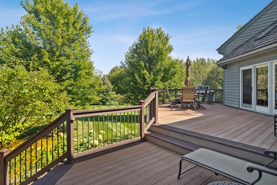 Real Estate Photography - 6534 Saddle Ridge Lane, Long Grove, IL, 60047 - Deck