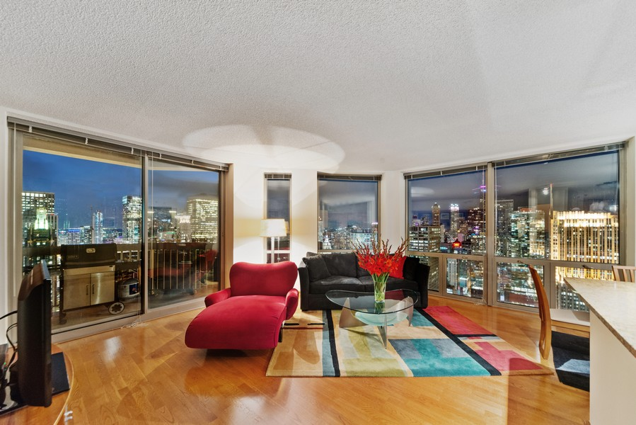 Real Estate Photography - 222 Columbus, 4603, Chicago, IL, 60601 - Living Room